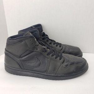 Air Jordan 1 Retro Mid Black Shoes
